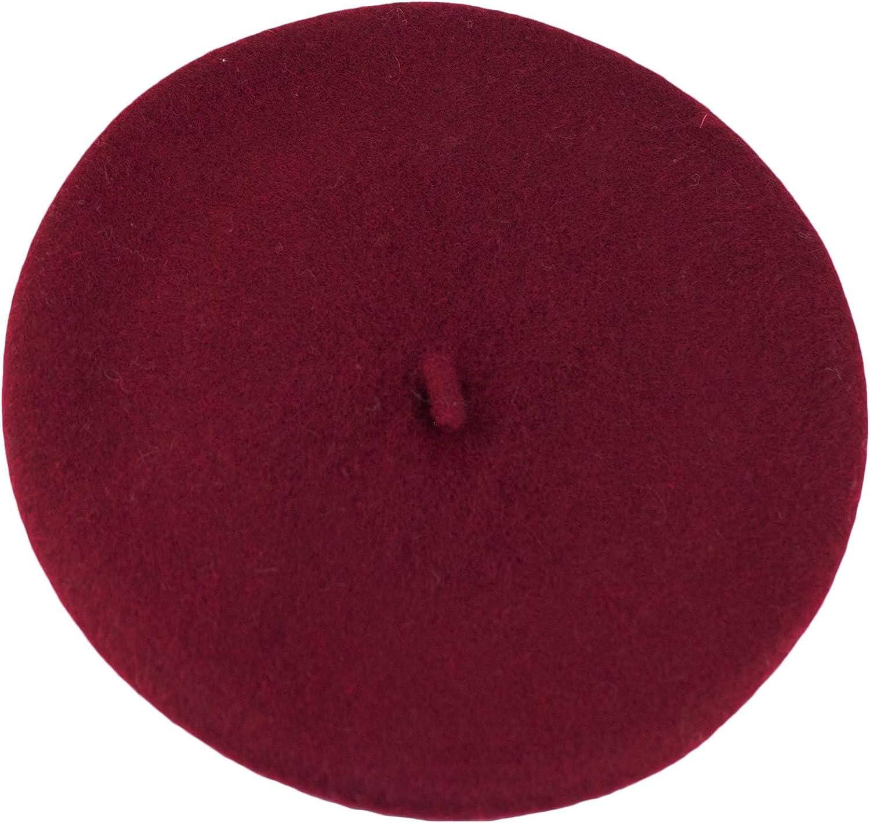 Dazoriginal Womens Wool Hat Black 100% Wool Beret Vintage Classic French Beret Ladies Beanie Cap Unisex