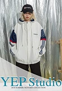 YEP STUDIO AMFunGO Autumn Women Jacket Outwear (XL, White)