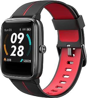 Reloj Inteligente Hombre GPS, Smartwatch 5ATM Impermeable 14 Modos Deporte con Nadar Modo con Pulsómetro, Calorías, Podómetro, Actividad Inteligente Reloj Deportivo para Mujer Hombre Niño Android iOS
