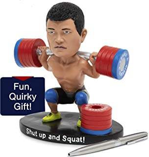 Crossfit Bobble Head & Cute Pen Holder for Desk - Funny Cubicle Decor - Desk Toys for Men - Cute Car Dashboard Bobbleheads - Cool Desk Accessories for Men - Gym Rat Gifts for Dad Who Has Everything