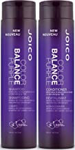 Joico Color Balance Purple Shampoo and Conditioner Set, 10.1-Ounce