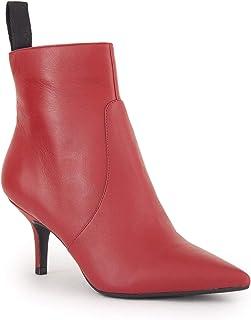 720fccf0a8f631 Guess Scarpe Donna Ankle Boot Tronchetto MOD. Deidra TC 50 Pelle Red D19GU38