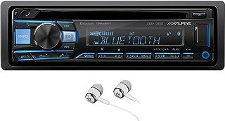 $169 » Alpine CDE-172BT Single DIN Bluetooth in-Dash CD Player Front USB and Auxiliary MP3 ID3 Tag AM/FM SiriusXM Ready Pandora C...