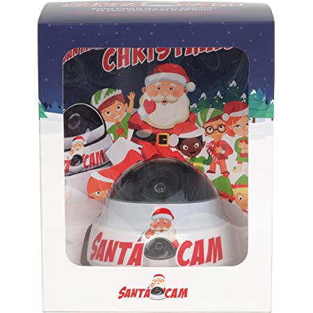CHRISTMAS SANTA Cam Dummy CCTV Camera For Kids Fun Flashing LED Surveillance