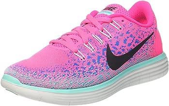 Nike Women's Free Rn Distance Hyper Pink/Black-Blue Glow-Hyper Turquoise Ankle-High Running Shoe - 6.5M