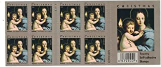 Christmas Madonna of the Candelabra by Raphael Book of 20 USPS Forever Postage Stamps Christmas United States Raphael 679544 Holiday Celebrations