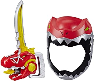 Playskool Heroes Power Rangers Zord Saber, Red Ranger Roleplay Mask with Sword Accessory, Dino Charge Inspired Toy for Kid...