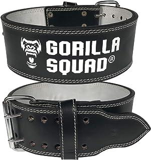 GORILLA SQUAD パワーベルト パワーリフティングベルト レザーベルト 本革 トレーニングベルト
