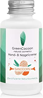 GreenCocoon Nagel- & Handcreme Bio Sanddorn – vegan zertifizierte Handcreme Naturkosmetik mit Sanddorn, Ringelblume und Hagebutte 50 ml