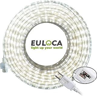 EULOCA LED Light Strip kit,Waterproof IP65, 110V, Flexible, 900 Units SMD 2835 LEDs,UL Listed Power Supply (32FT / Daylight White)