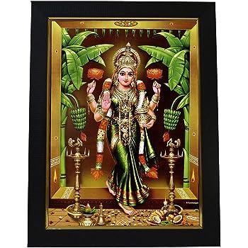99Crafts - Goddess Gruha Lakshmi Photo Frame 10 X 13 Inches (Brown)