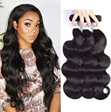 Anknia Mink Body Wave Brazilian Hair 3 Bundles Deals 8A 100% Unprocessed Natural Black Color Good Cheap Remy Brazilian Virgin Hair Bundles Weave Wet And Wavy Human Hair Extensions 16 18 20 Inches