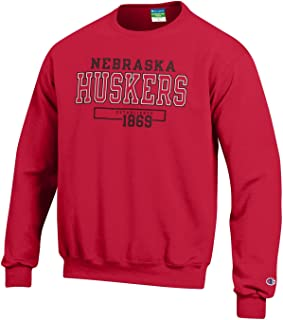 Champion NCAA Unisex NCAA Men's Long Sleeve Eco Powerblend Sweatshirt Unisex Officially Licensed Crewneck Fleece
