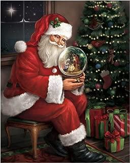 Trendy Decor 4 U 64273-C Santa's Favorite Gift: A Nativity Snow Globe Lighted Canvas