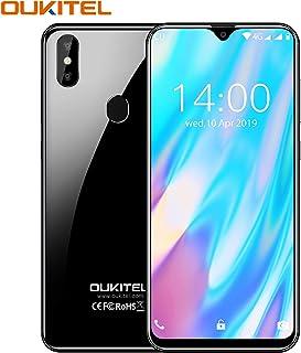 OUKITEL C15 PRO+ SIMフリースマートフォン本体 Android 9.0 32GB ROM 3GB RAM 6.1インチHD+水滴型 4G 携帯電話 グローバルLTEバンド対応スマホ フェイスと指紋ロック解除 3つのカードスロット (黒)