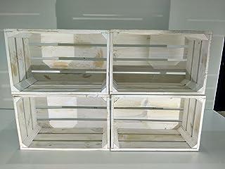 comprar comparacion Set 4 Cajas Madera Blanco Vintage Tipo Fruta
