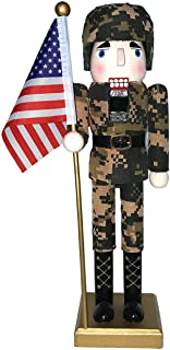 Santa's Workshop 70623 Army Nutcracker with Flag, 14