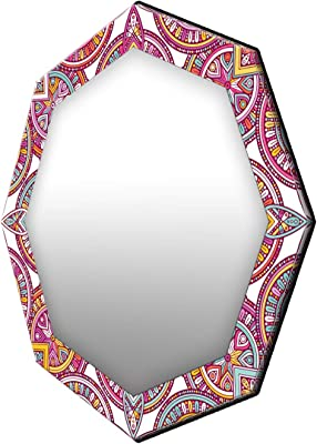 999Store Printed classcal Colorful Pattern Octagon Mirror (MDF_24X24 Inch_Multi)