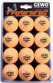 comprar comparacion GEWO 3-Stern Tischtennisball Im Handlichen 12er Pack Pelota de Ping Pong, Unisex Adulto