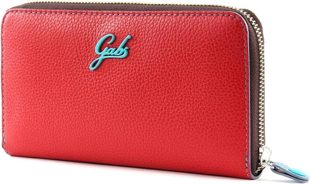Gabs gmoney17 zip purse blood , portafoglio per donna , in vera pelle  al 100 % ND P0088 C4003