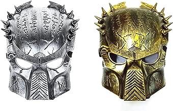 Alien vs Predator Warrior Costume Party Halloween Mask 2 Pieces