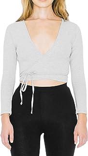 American Apparel Women's Cotton Spandex Julliard Long Sleeve Top