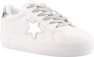 Women's Fashion Platform Sneakers Lace-up Casual Walking...