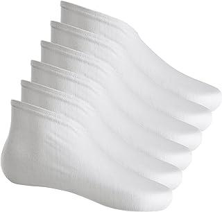 Hotop 3 Pairs Cotton Socks Lotion Absorbing Moisturizing Socks Spa Socks for Dry Feet, White