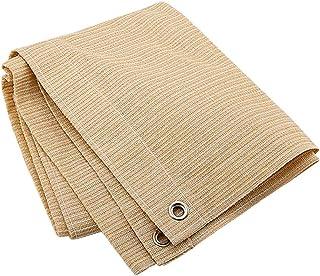Wuzming Shade Cloth Shading Net Garden Shadow Sunscreen Breathable Anti-UV Polyethylene, 17 Sizes (Color : Beige, Size : 1...