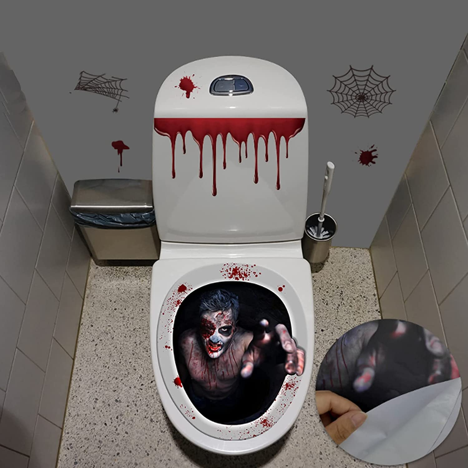 Long-awaited Halloween Toilet Lid All items in the store Decals Stickers Decorations Scary C