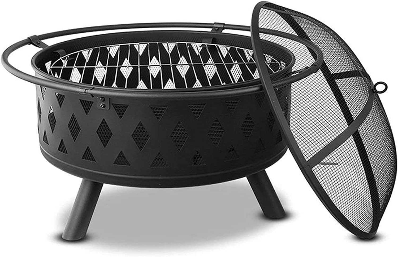 HLEZ Backyard Patio Garden Fireplace and Popular Wood Concrete New Free Shipping Round Bur