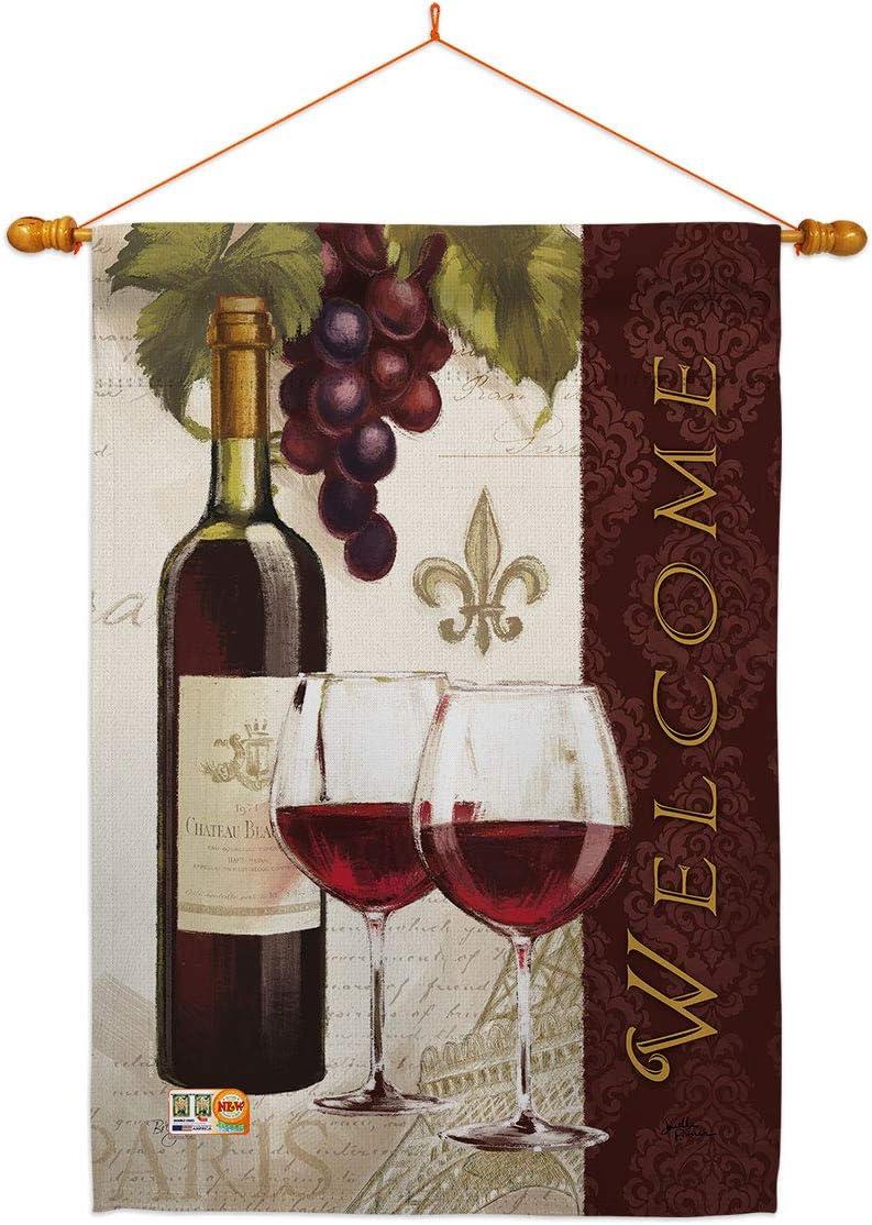 Breeze Decor Wine Welcome Wines House D Beverages Dowel Set Flag 超目玉 公式ストア