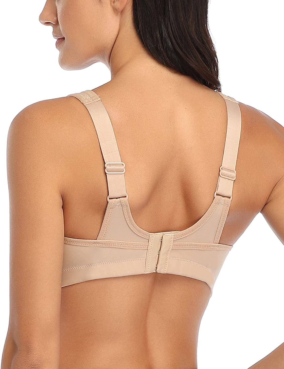 Wingslove Womens Sports Bra High Impact Full Coverage Supportive Workout Bra