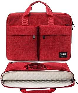 KINGSLONG 17 17.3 Inch Laptop Case Bag Sleeve, Lightweight Laptop Computer Notebook Ultrabooks Carrying Case Sleeve Handbag Cover for Men Women Fit for Acer Asus Dell Lenovo HP Toshiba, Red