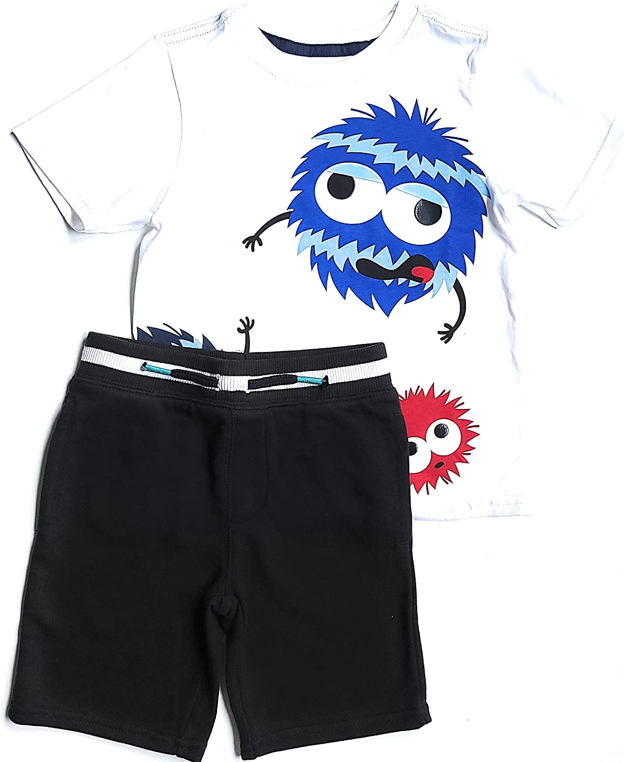 2-Piece Max 50% 40% OFF Cheap Sale OFF Jersey Tees Shorts Set 4T Monster Head Clipart White