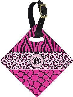 Triple Animal Print Diamond Luggage Tag (Personalized)