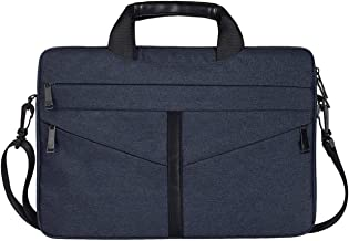 DJ04 Laptop Bag Liner Package Portable Briefcase Men And Women Polyester Fiber & Nylon Telescopic Handle(navy blue&15.6 inches)- FahionswanAE