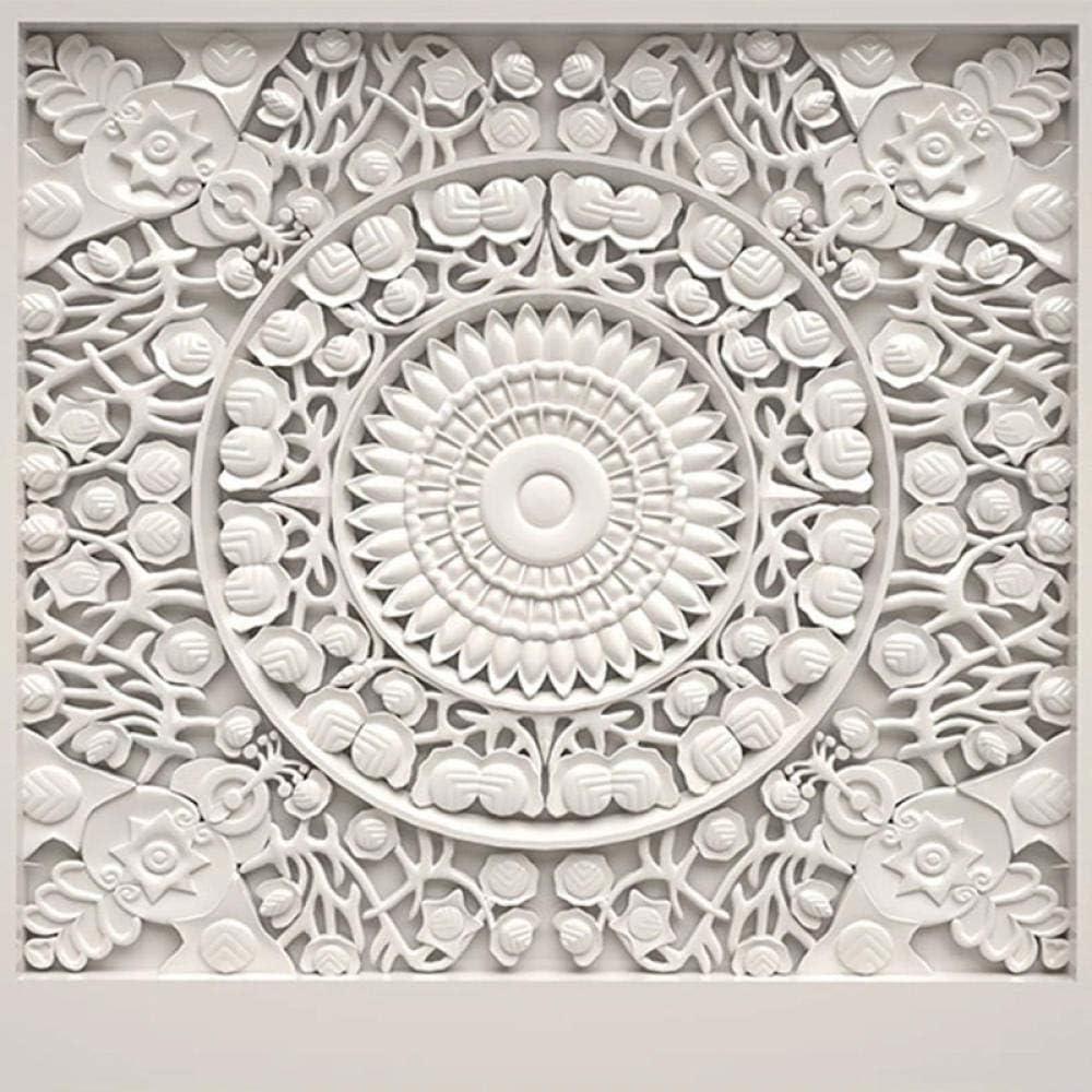 Custom Wallpaper Home Detroit Max 46% OFF Mall Decor European White Style Plaster Carved