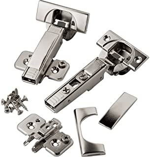 Full Overlay Blum 110 deg Soft-Close BLUMotion Clip Top Frameless Hinges, Pair