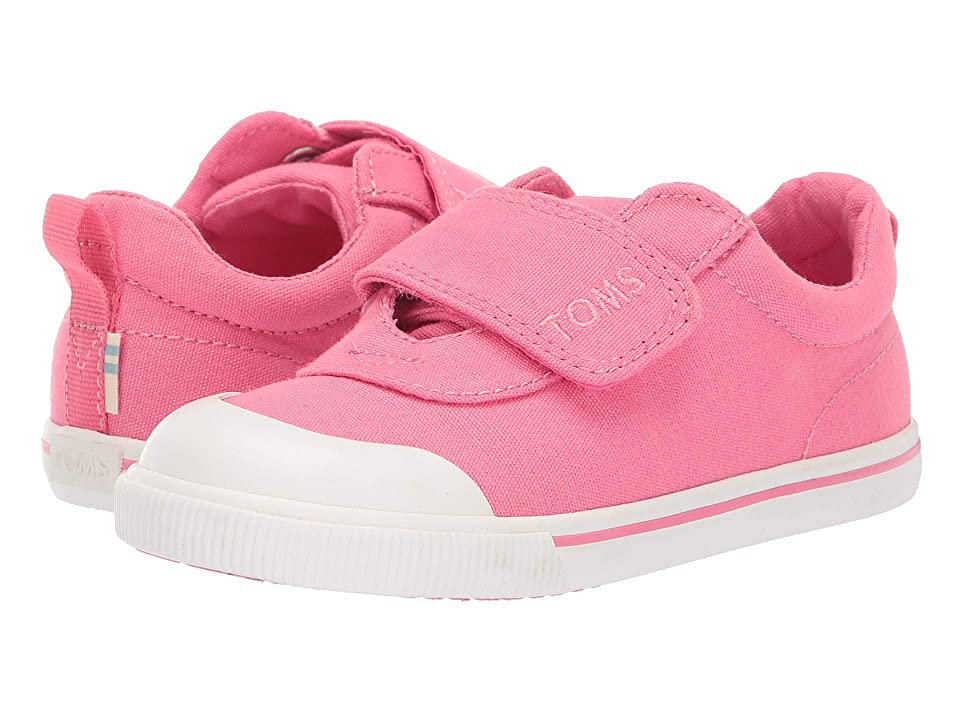 TOMS Kids Doheny (Toddler/Little Kid) (Bubblegum Pink Canvas) Girl
