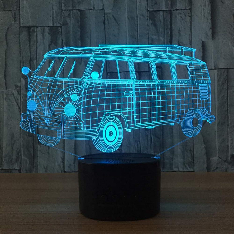 KAIYED 3D Night Light Bus 3D Light Novelty Led 3D Light USB Led Desk Lamp 3D Light Fixtures