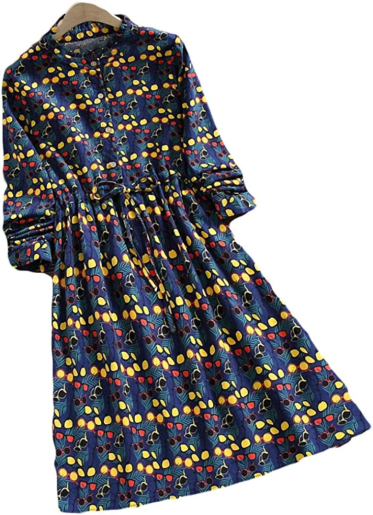 Kytrun Girl Autumn Winter Women Dress Cotton Vintage 本物◆ Plaid オンライン限定商品 Cute
