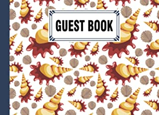 Guest Book: shells Cover Guest Book, Guest book for Your Birthday Party, Anniversary, Bridal Shower, Visitors - 150 Pages,...
