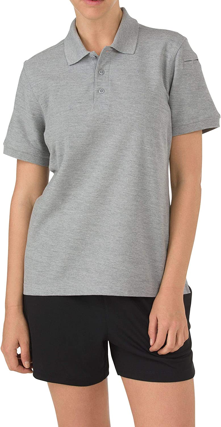 5.11 Tactical Women's Utility Short Sleeve Polo Shirt, Polyester-Cotton Knit Fabric, Style 61173