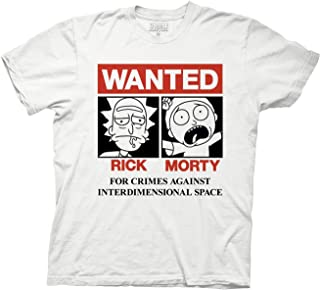 Rick & Morty On Wanted Poster Adult T-Shirt