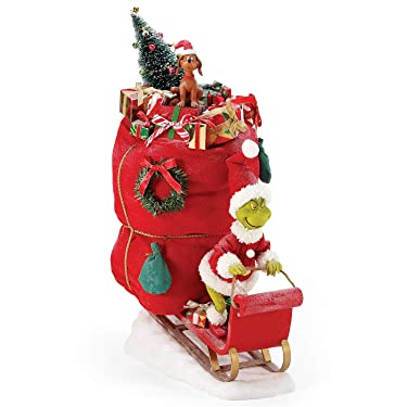 Department 56 Possible Dreams Dr. Seuss How The Grinch Stole Christmas Merry Grinchmas Figurine, 18 Inch, Multicolor