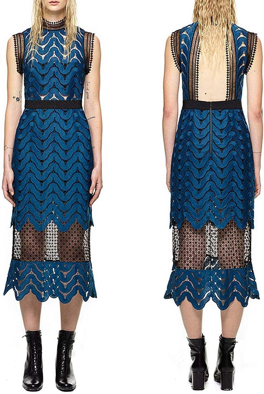 Cheryl Bull Fashion Tops Lace Mesh Patchwork Runway Dresses