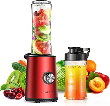 HadinEEon Smoothie Blender, 3 Speeds Adjustable Personal Blender for Shakes and Smoothies, Single Serve Blender with 20oz &am