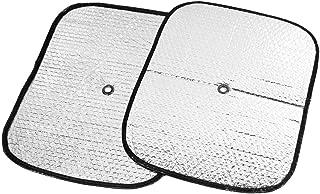 sourcingmap Nero auto finestra Tenda parasole protezione UV resistenza termica 125 x 68cm