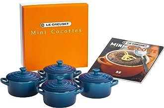 Le Creuset Set of 4 Mini Cocottes with Cookbook, Marseille